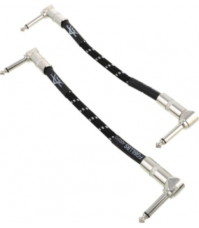 FENDER CUSTOM SHOP Performance Patch Cable - 15cm Tweed