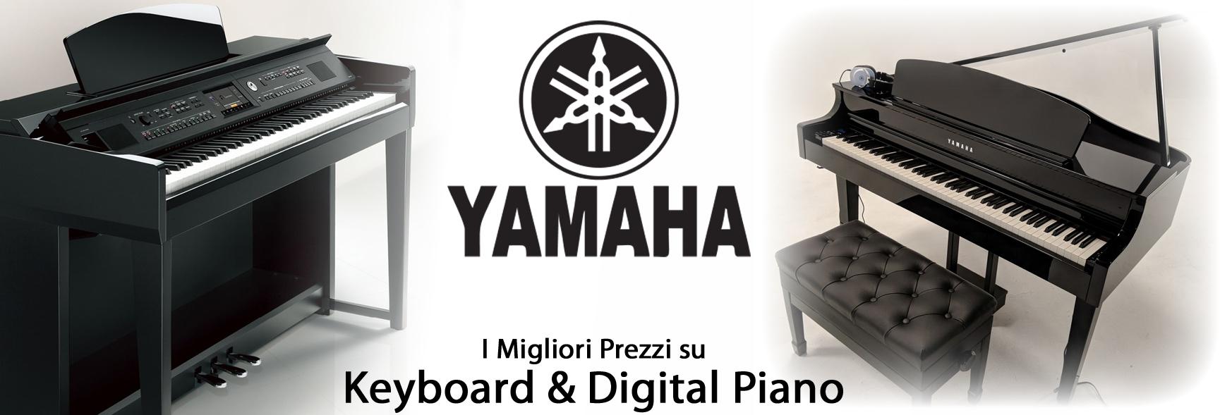 Clicca per vedere tutti i modelli e disponibilità dei Pianoforti Digitali del marchio YAMAHA